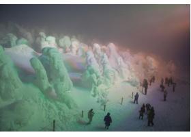 Snow Monster ปีศาจหิมะ สถานที่ท่องเที่ยวฤดูหนาวจัด ที่ Yamagata ภูมิภาค Tohoku ประเทศญี่ปุ่น